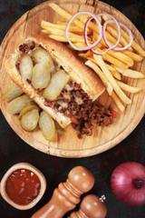 Sloppy joes, ground beef sandwich