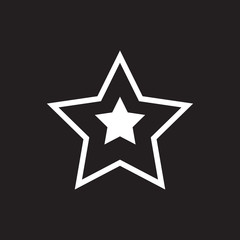 Vector star favorite or best choice icon