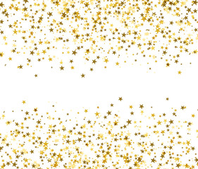 Golden stars with blank space in the center, brilliant shine.