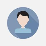 Girl flat icon   Business woman user avatar  Vector illustration