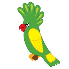 Vector Cute Cartoon Parrot