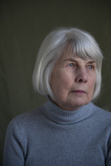portrait of a senior woman 70 - 80 years