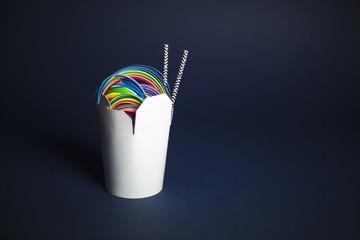 Rainbow Noodles, horizontal...