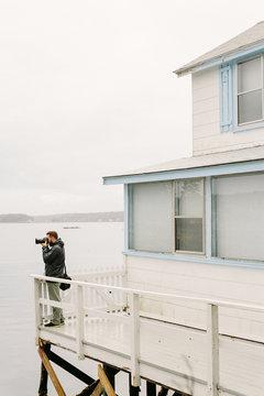 Photographer Shooting on East Coast