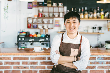 Portrait of young coffee owner