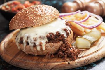 Sloppy joes ground beef burger sandwich
