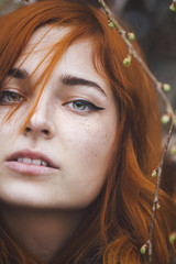 Beautiful redhead with freckles
