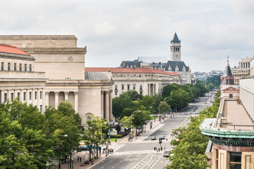 Aerial view of Old Post Office in Washington DC