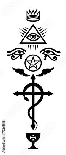 CRUX SERPENTINES (The Serpent Cross)  Mystical signs and