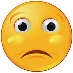 Sad or lonely emoji vector image