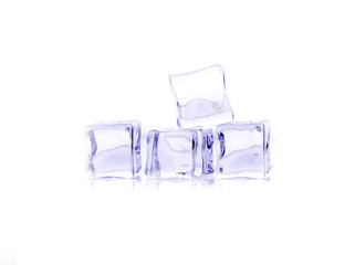 ices on white background