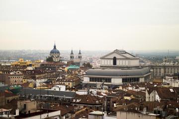 Beautiful air view of Madrid