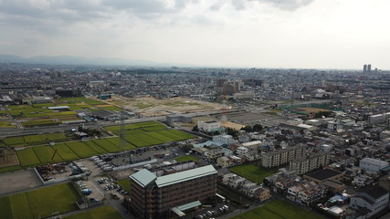 大和川から空撮~松原市を望む~