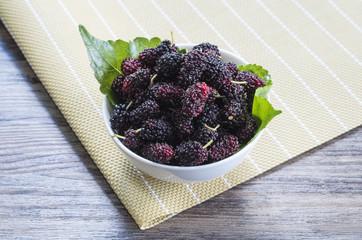 Mulberries in bowl