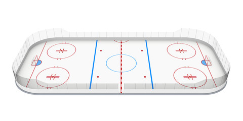 Ice Hockey Rink Isolated