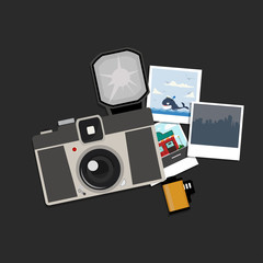 Camera with photos and Film roll