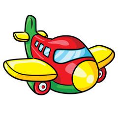 Airplane Cartoon Illustration of cute cartoon airplane.