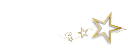 Welle Gold Wellen Band Banner Hintergrund Stern Sterne Freiraum Etikett Leer Textfreiraum