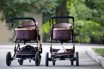 two newborn stroller baby buggy