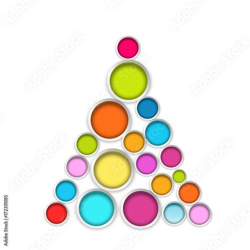 Symbol Weihnachtsbaum.Weihnachtsbaum Symbol Tannenbaum Christbaum Modern Bunt Kreis Kreise