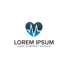 love medicine Logo design concept template