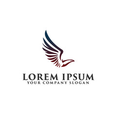 luxury bird Logo design concept template