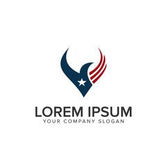america bird Logo design concept template