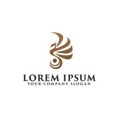 luxury bird phoenix Logo design concept template