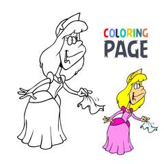 Princess cartoon coloring page