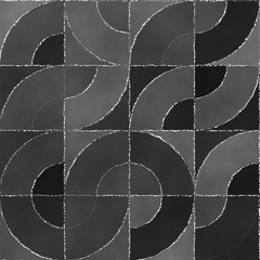 Abstract geometric background with blackboard