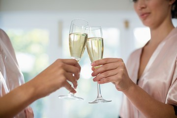 Women toasting a glasses of champagne