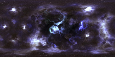 Autocollant pour porte Univers Deep space, stars and nebula, 360 degrees panorama, HDRI high resolution environment map