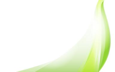 Green wave vector design white Background