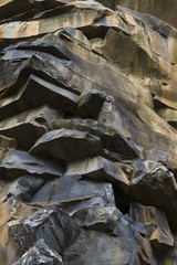 strata of volcanic rock on the island of Madeira
