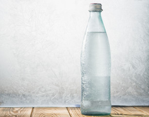Very cold mineral water