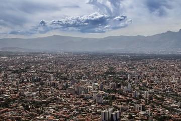 Ausblick auf Cochabamba im Sommer