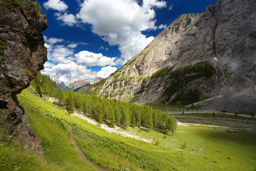 Valley in Dolomites