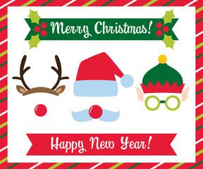 Christmas photo booth collection (Santa, elf and deer)