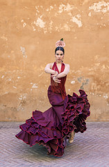flamenco dancer in the streets of sevilla