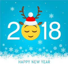New year 2018 vector greeting card