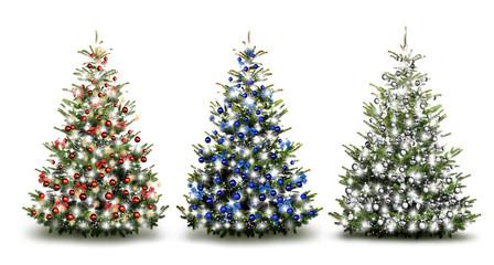 Drei Weihnachtsbäume