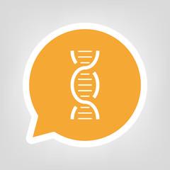Gelbe Sprechblase - DNA