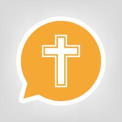 Gelbe Sprechblase - Christentum