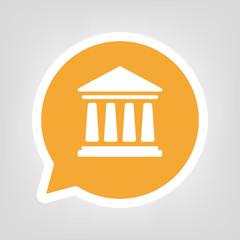 Gelbe Sprechblase - Bank