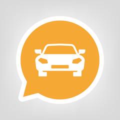 Gelbe Sprechblase - Auto