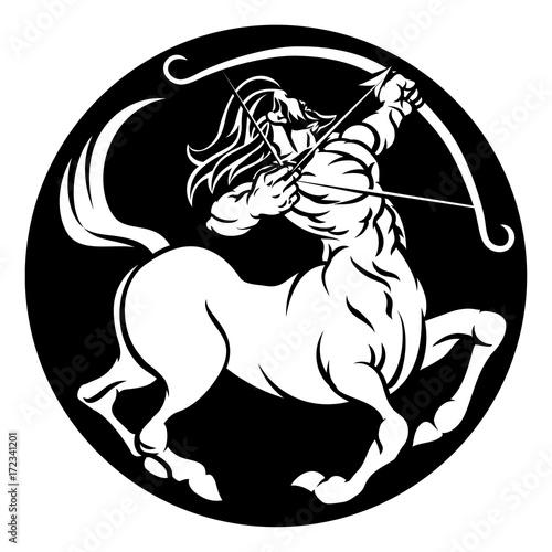 Centaur Sagittarius Zodiac Sign Stock Image And Royalty Free Vector