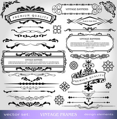 Vintage Ornate Elements Design