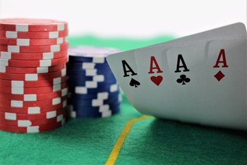 An concept image of a poker game