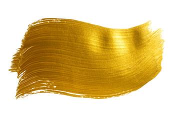 Gold large acrylic brush stroke