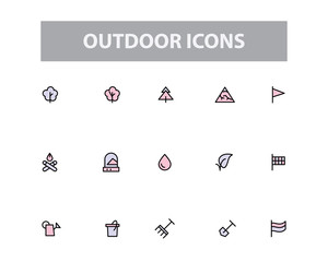 Outdoor Vector Icons